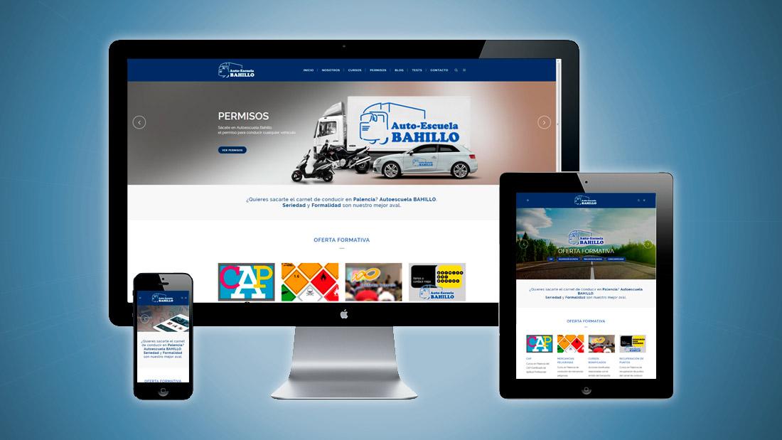 Nueva web de Autoescuela Bahillo